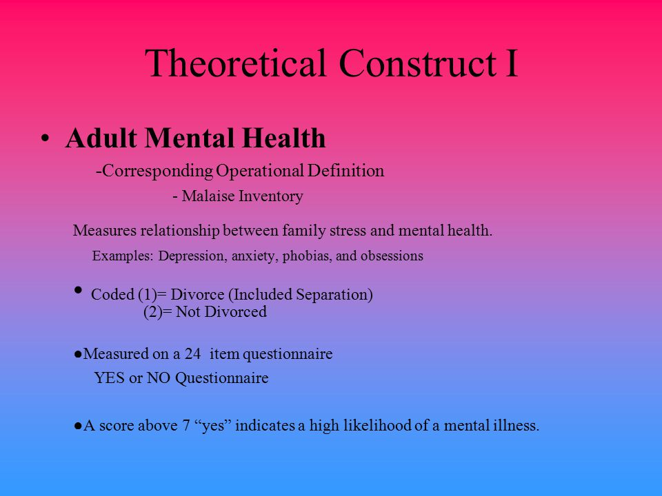 Theoretical Construct I