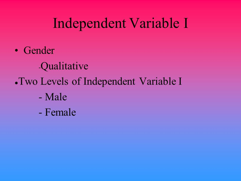 Independent Variable I