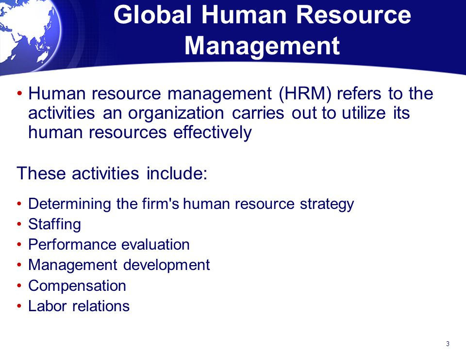 Human Resource Plan Example