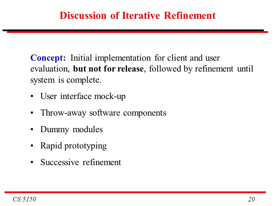 Discussion of Iterative Refinement