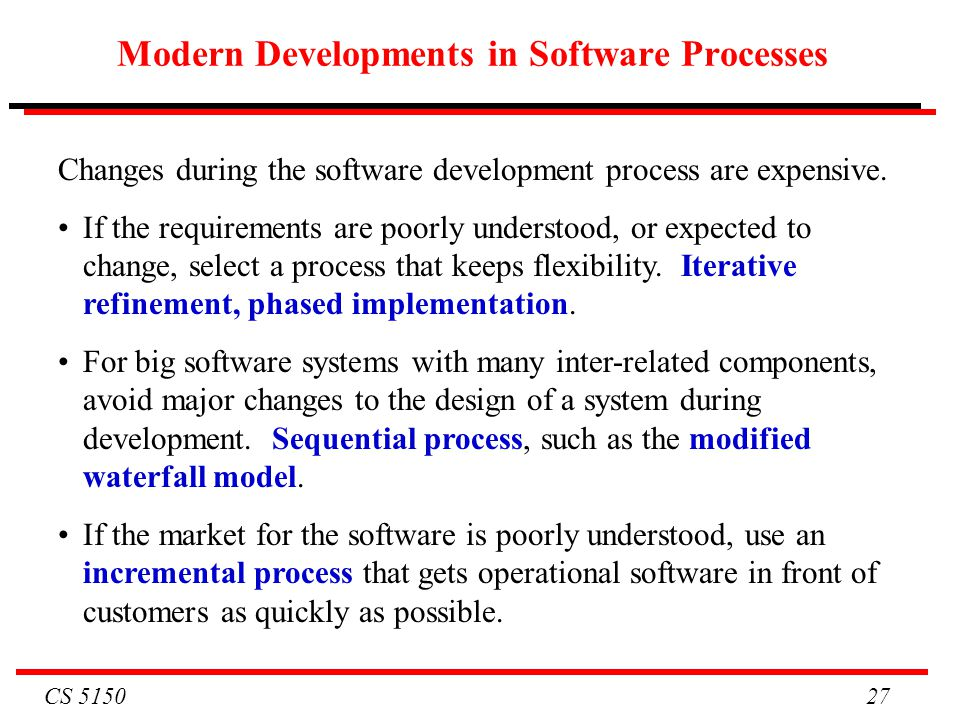 Modern Developments in Software Processes