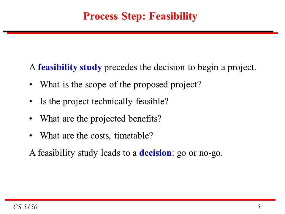 Process Step: Feasibility
