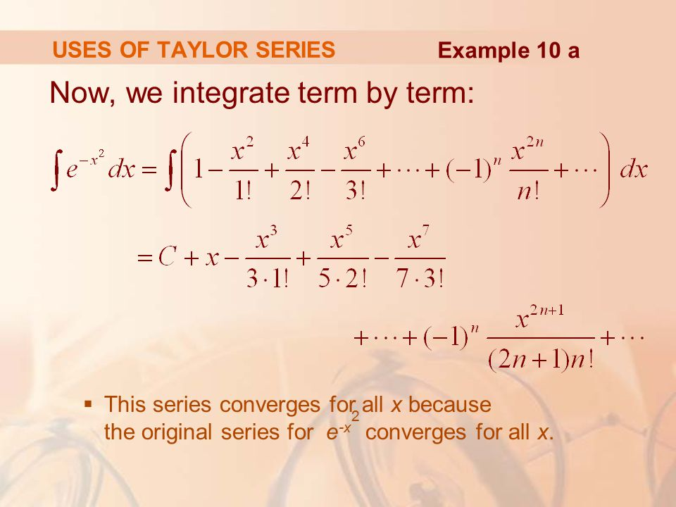 Now, we integrate term by term: