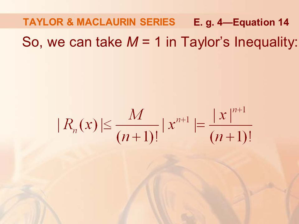 TAYLOR & MACLAURIN SERIES
