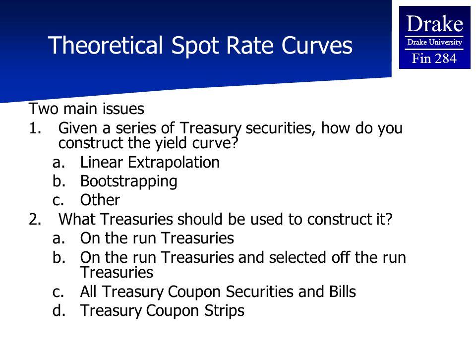 Us treasury spot rates strip yields