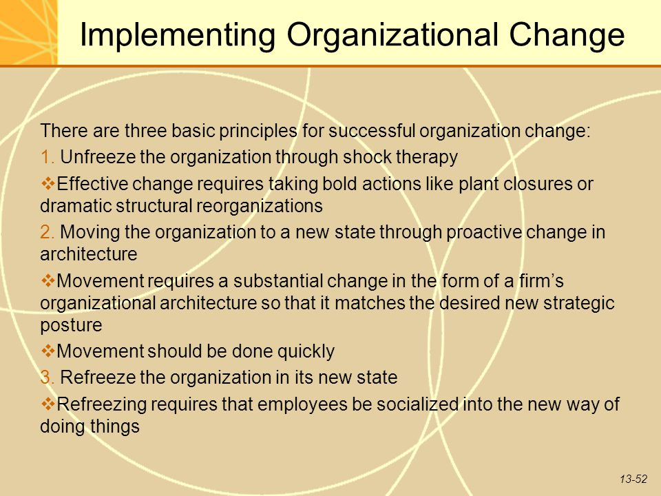 The new flexible organization how changing