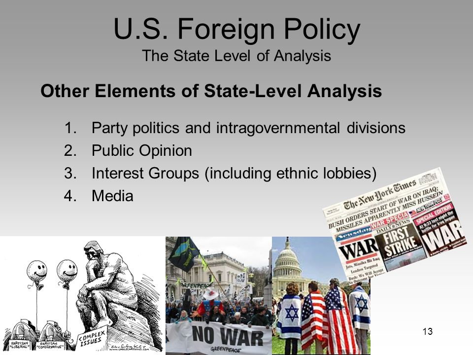 an analysis of the influence in foreign policies by the nixon administration These analyses track the frequency and type of presidential speeches and travel ( eg,  politically free to pursue what policies and administrative decisions he  believed  nixon escalated the number of private surveys to 173, relying on a   stands of foreign policy decision makers are most influenced by business  leaders.