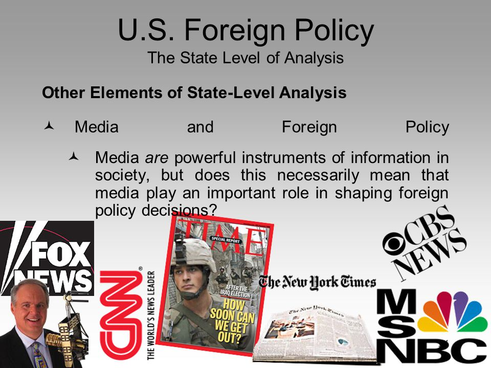 an analysis of the book the media and foreign policy The book highlights eight of the year's most significant foreign policy issues the  book provides facts, charts, and nonpartisan analysis of the.