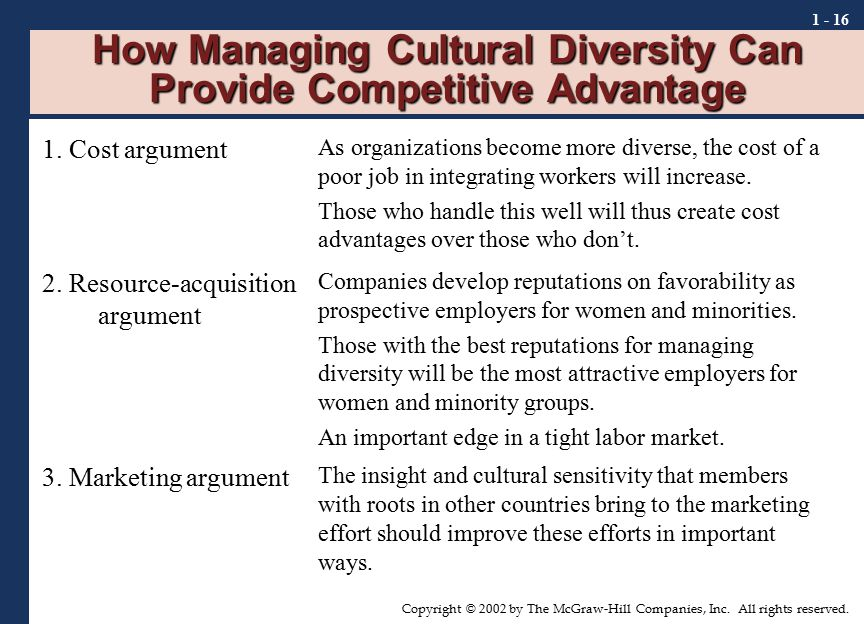 Working together : managing cultural diversity