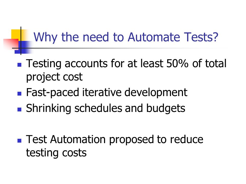 manual testing vs automation testing ppt
