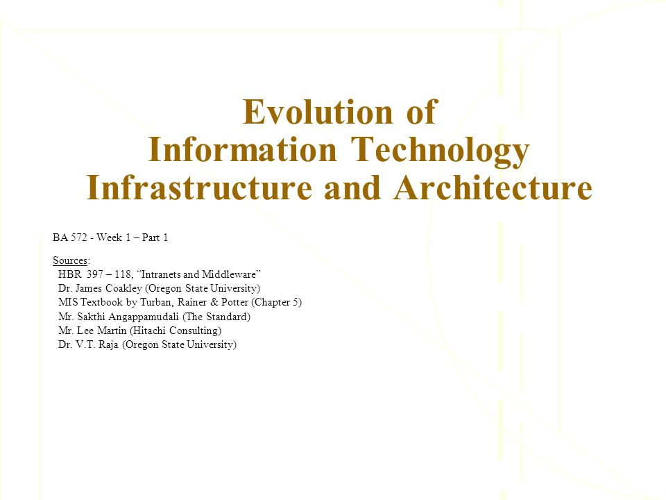 technology infrastructure essay