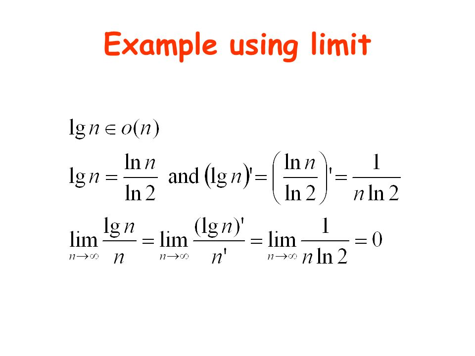 Example using limit