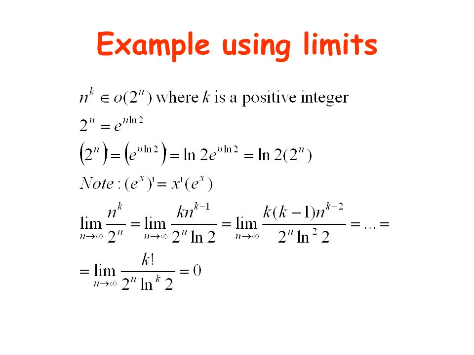 Example using limits