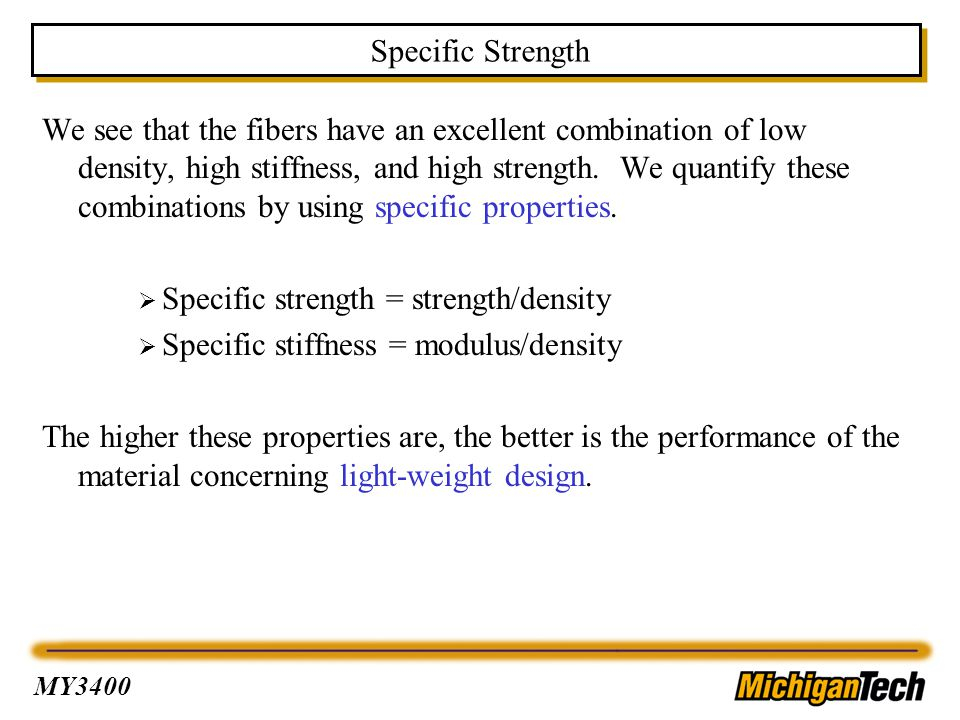 Specific Strength