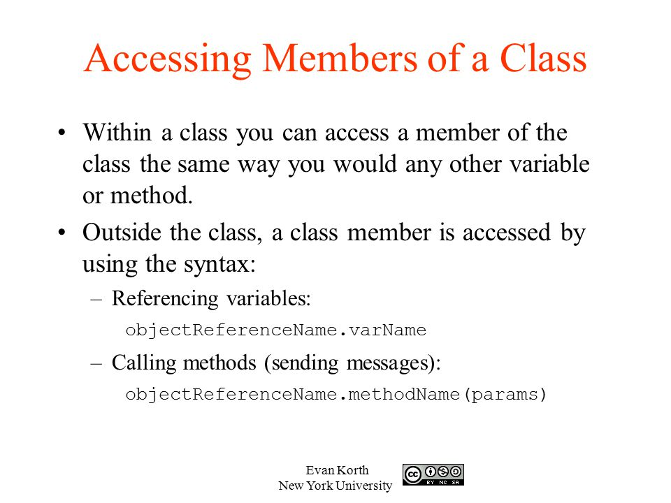 Accessing Members of a Class