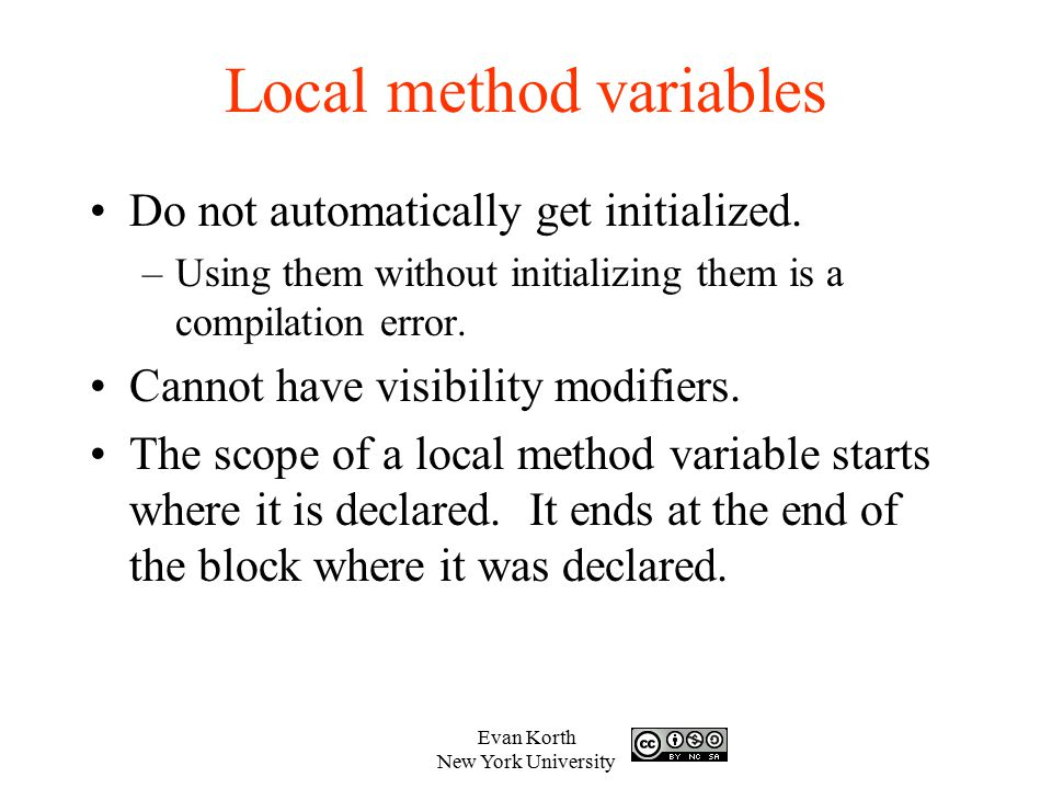 Local method variables