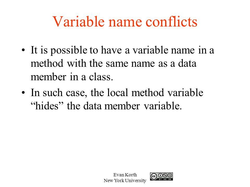 Variable name conflicts