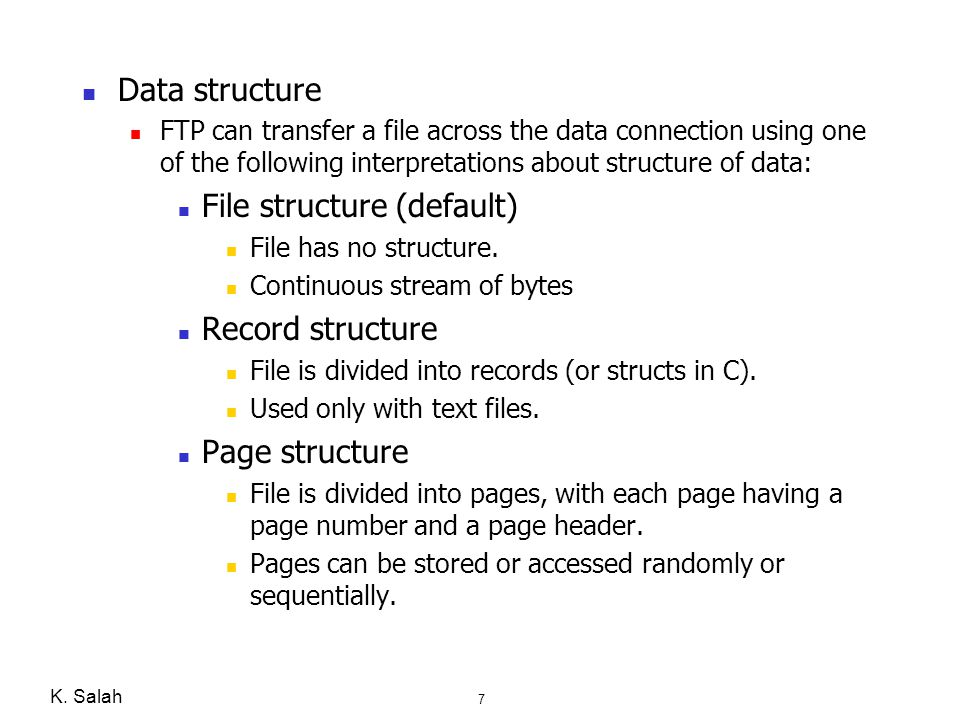 File structure (default)