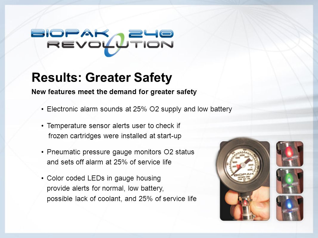 Results: Greater Safety New features meet the demand for greater safety