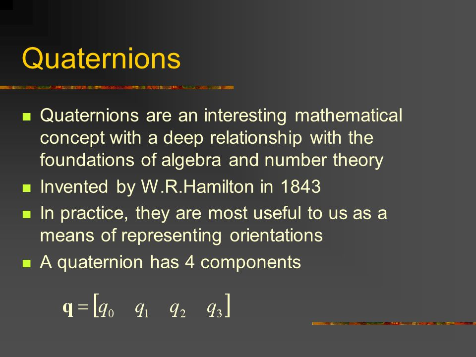 relationship between complex numbers and quaternions