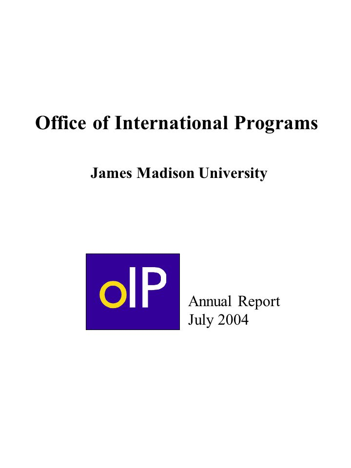 Office of international programs james madison university ppt download - International programs office ...