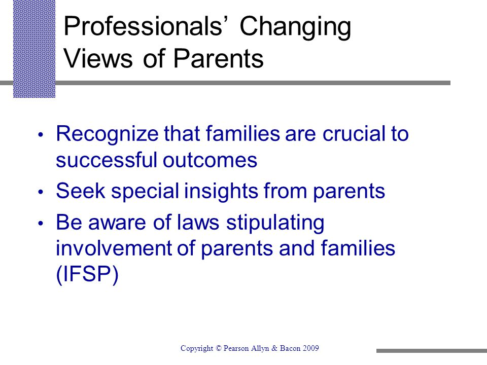 Professionals' Changing Views of Parents