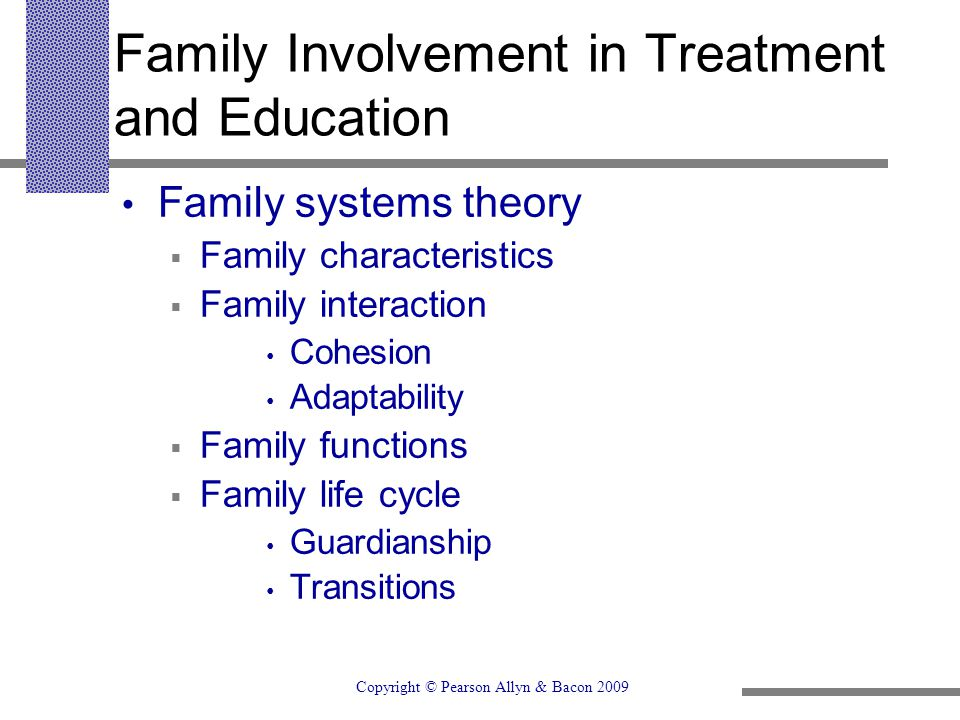 Family Involvement in Treatment and Education