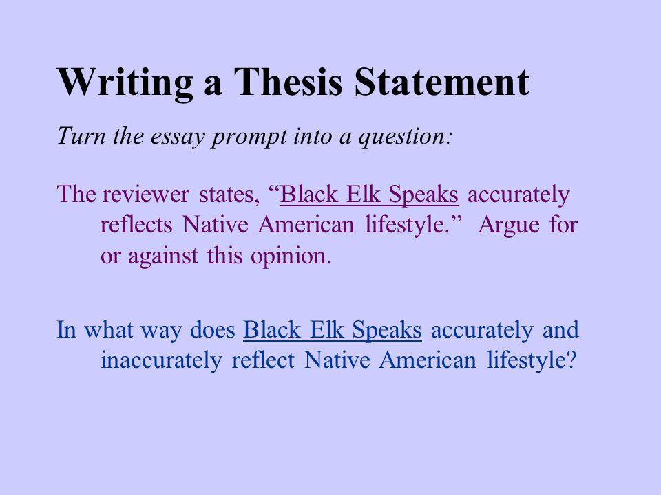 Thesis statement about writing