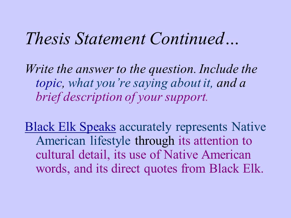 thesis statement questions This handout describes what a thesis statement is, how thesis statements work in your writing, and how you can discover or refine one for your draft.