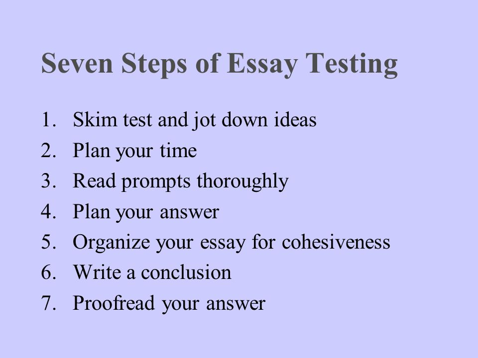 Steps in preparing a thesis
