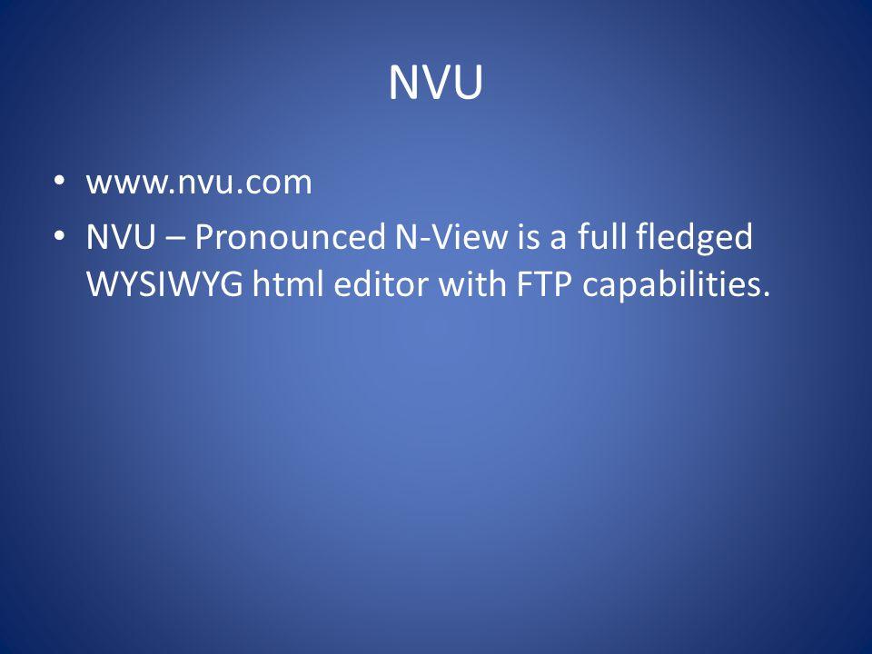 NVU www.nvu.com.