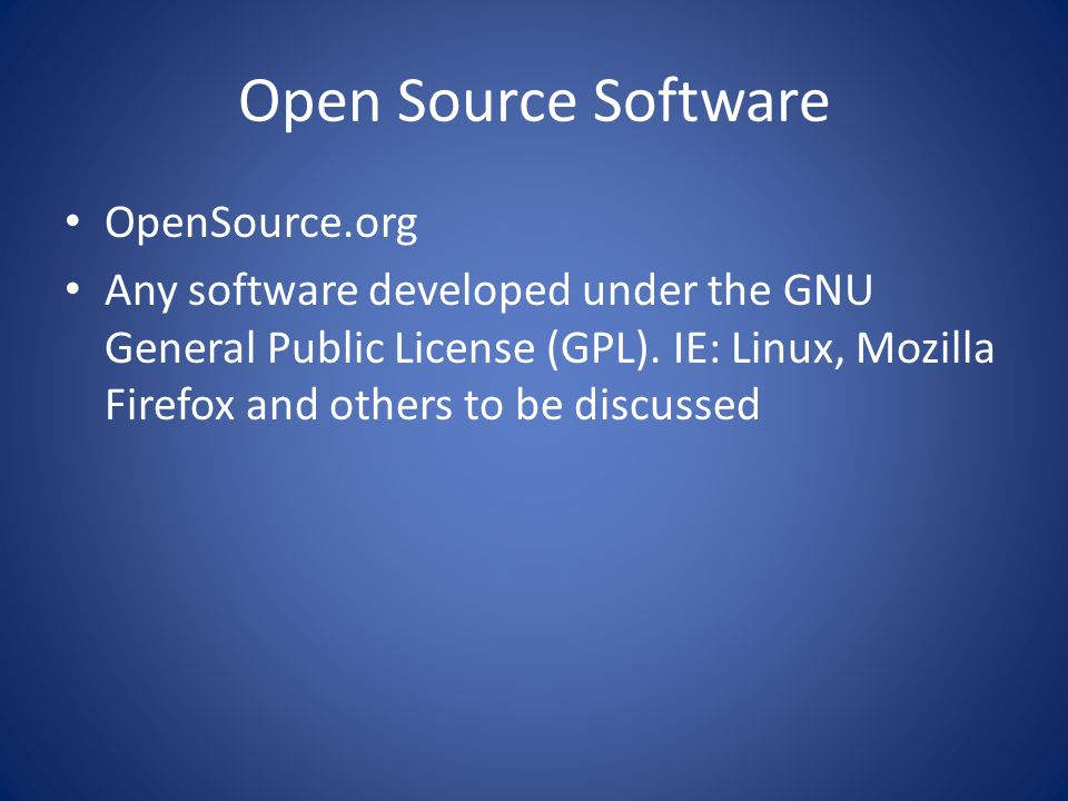 Open Source Software OpenSource.org