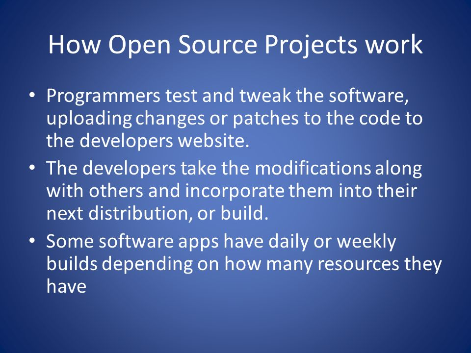 How Open Source Projects work
