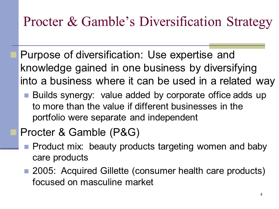 case study procter and gambles business strategy Procter & gamble is the world's biggest consumer products company with more than $80bn in evolution of a strategy pur is a water purification powder that can decontaminate water by stirring it studies show pur's effectiveness in cutting the incidence of diarrhoeal fatalities in the developing world.