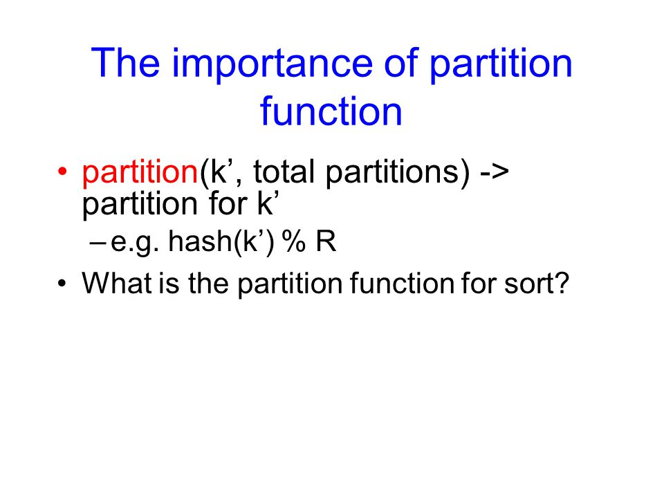 The importance of partition function