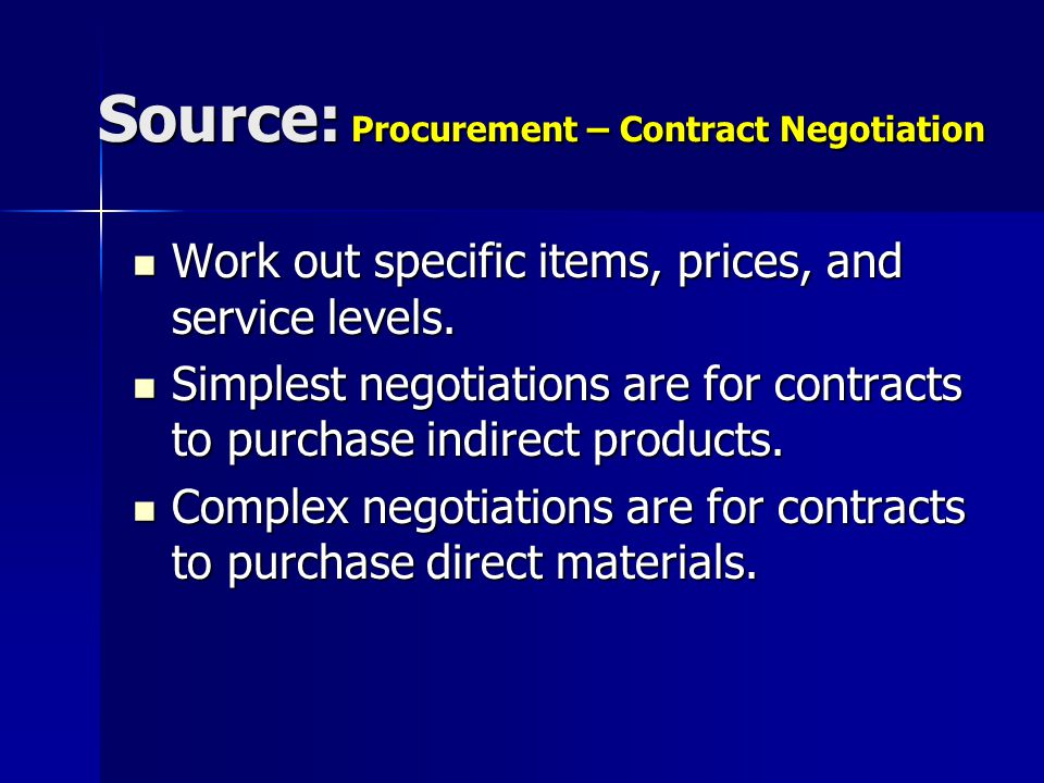 negotiation in procurement and supply pdf