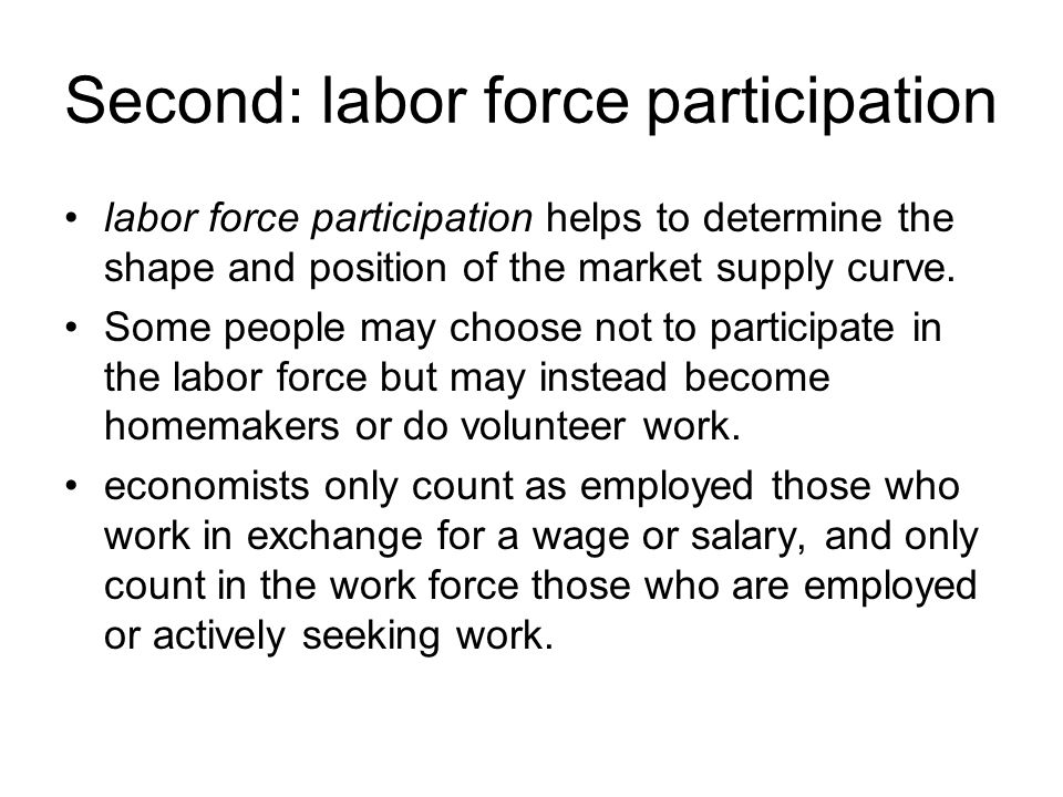 Second: labor force participation