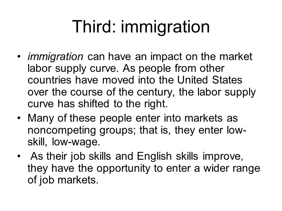 Third: immigration
