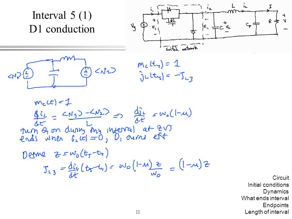Interval 5 (1) D1 conduction