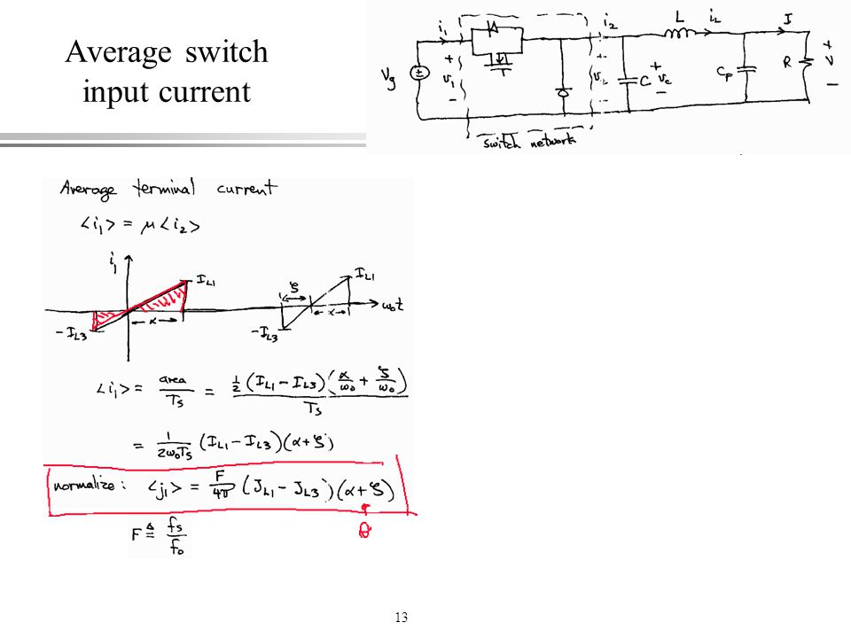 Average switch input current