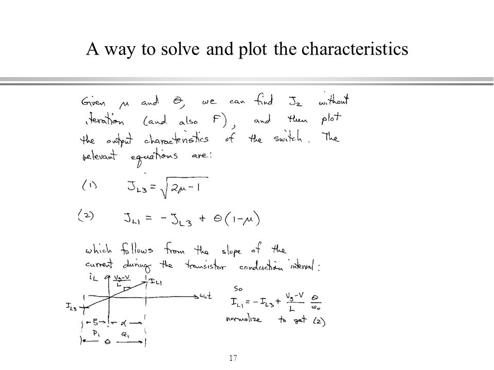 A way to solve and plot the characteristics