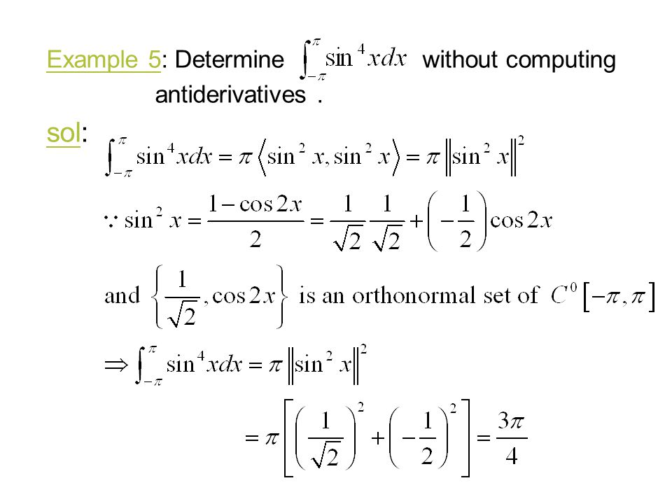Example 5: Determine without computing