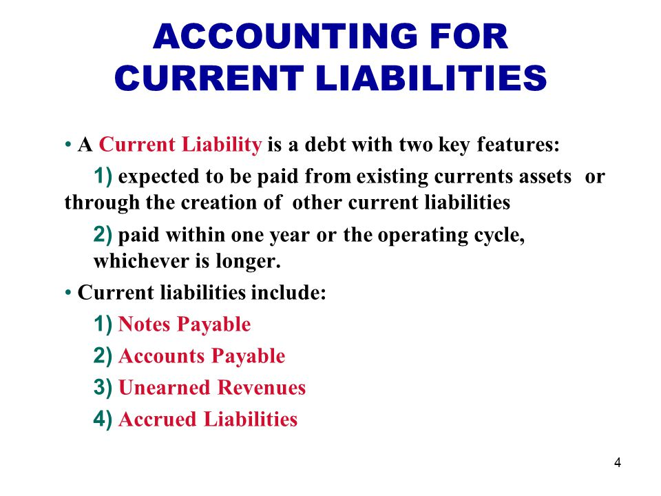 current liabilities and payroll accounting Ch11 - current liabilities and payroll accounting - free download as powerpoint presentation (ppt), pdf file (pdf), text file (txt) or view presentation slides online.