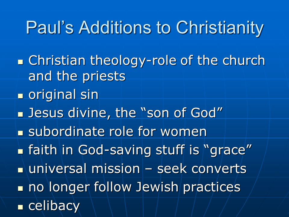 the contribution of paul of tarsus to the develpment of christianity The apostle paul, who started as one of christianity's most zealous enemies, was hand-picked by jesus christ to become the gospel's most ardent messenger paul traveled tirelessly through the ancient world, taking the message of salvation to the gentiles paul towers as one of the all-time giants of .