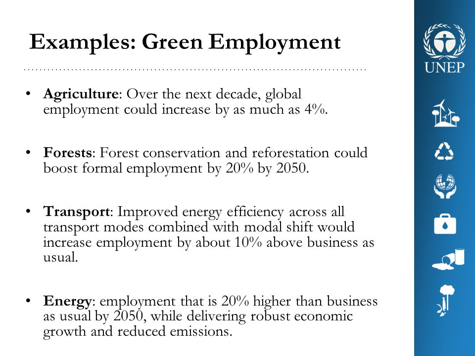 Examples: Green Employment