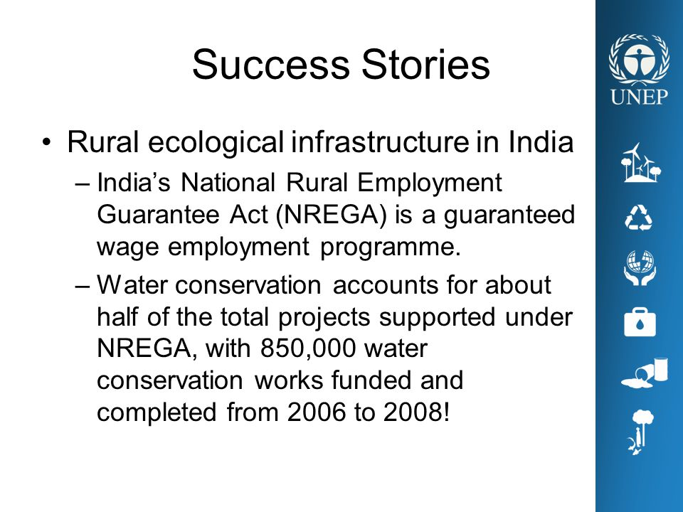 Success Stories Rural ecological infrastructure in India