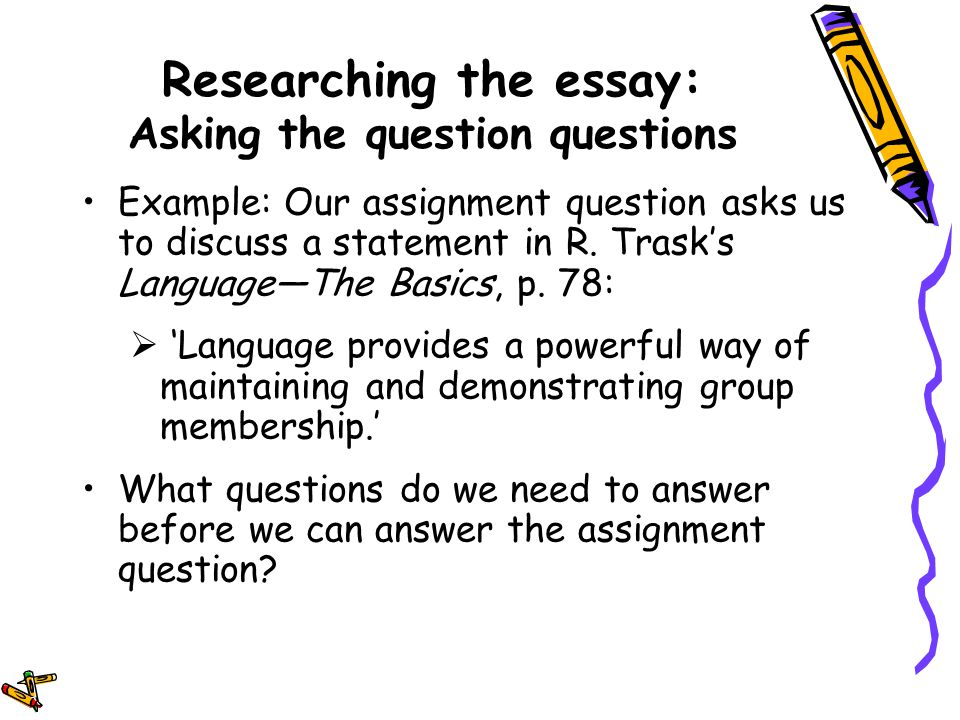 can you ask a question in an essay