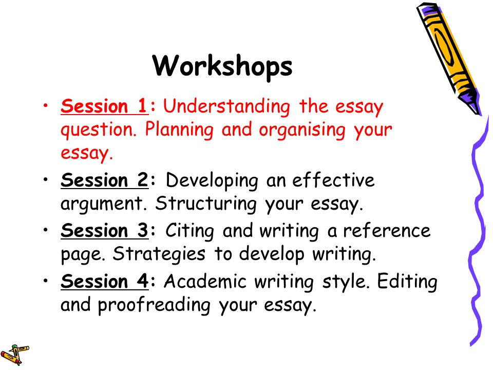 essay writing workshop ppt video online  workshops session 1 understanding the essay question planning and organising your essay