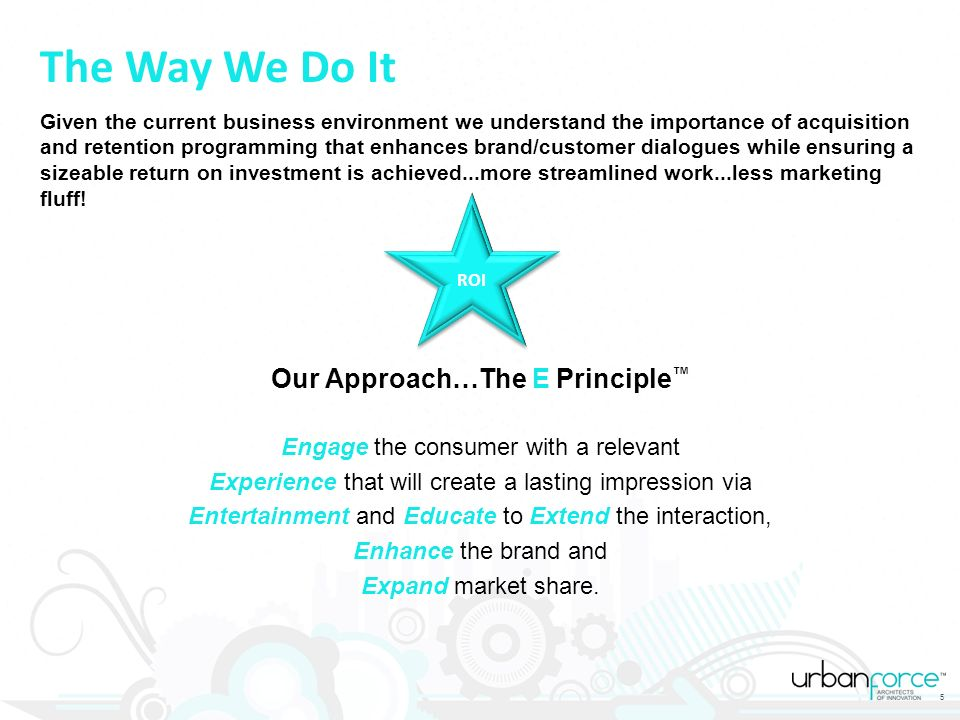 Our Approach…The E Principle™