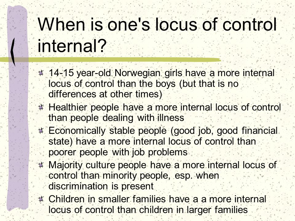 what is locus of control Locus of control is a concept in personality psychology (the branch of psychology that studies the patterns of thoughts, feelings, and behaviors that make people unique) it refers to the degree.